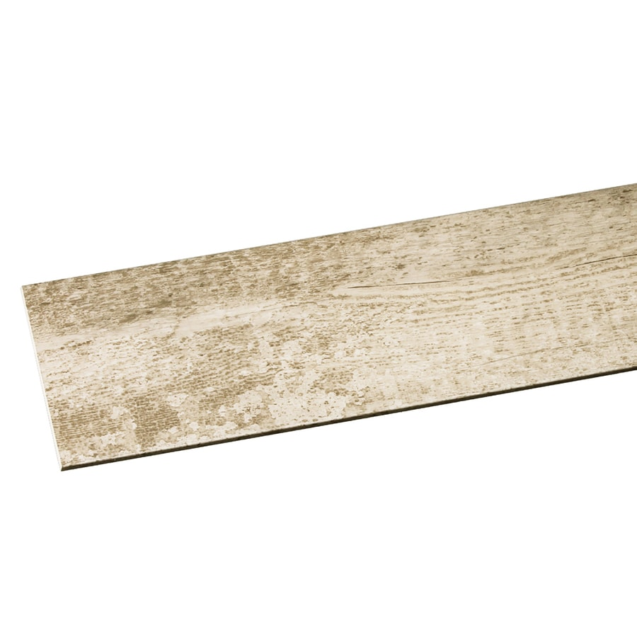 Inteplast Group Building Products Accent Planks 4.5-in x 4-ft Reclaimed White PVC Wall Plank