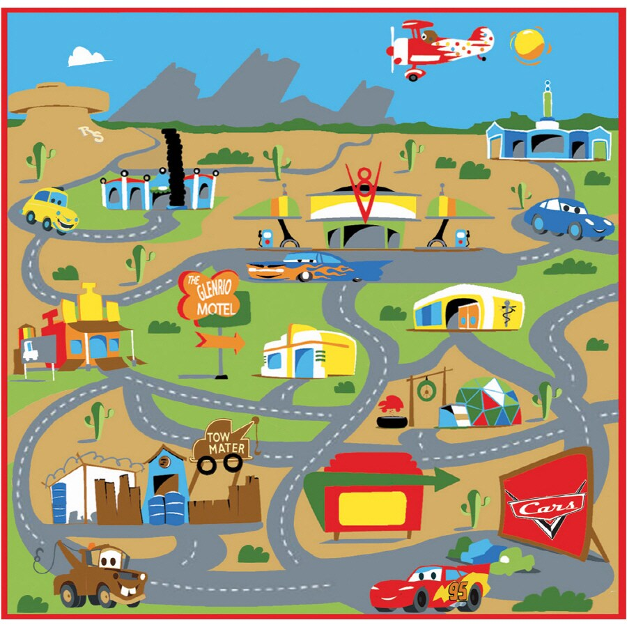 G A Gertmenian Sons 48 L X 24 W Disney Cars Kids Rug