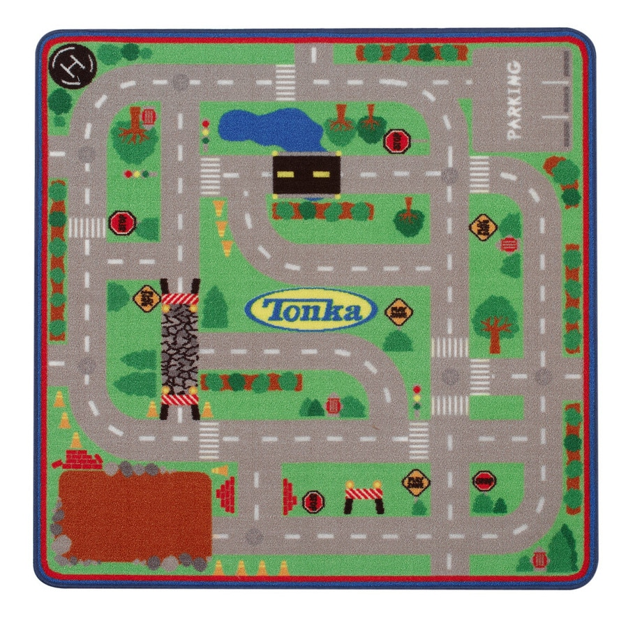 G.A. Gertmenian & Sons Tonka Game Square Indoor Tufted Sports Throw Rug (Common: 2 x 4; Actual: 39.5-in W x 39.5-in L)