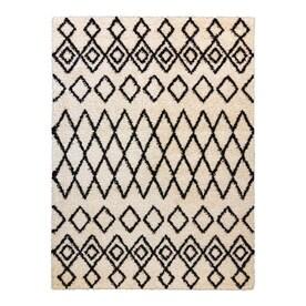 Style Selections Alyssa 5 x 7 Ivory black Indoor Geometric Area Rug