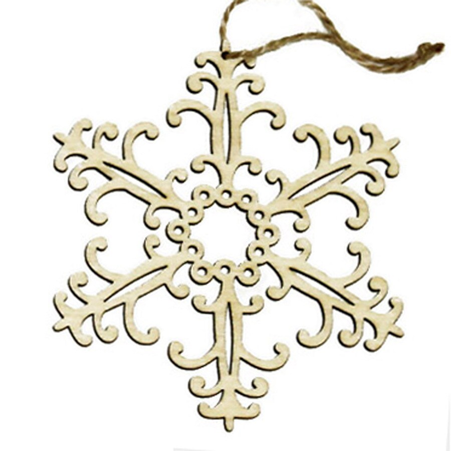 Holiday Living Wood Snowflake Ornament Lights