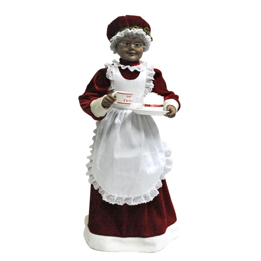 Holiday Living 28-in Christmas Plastic Lighted Musical Mrs. Claus