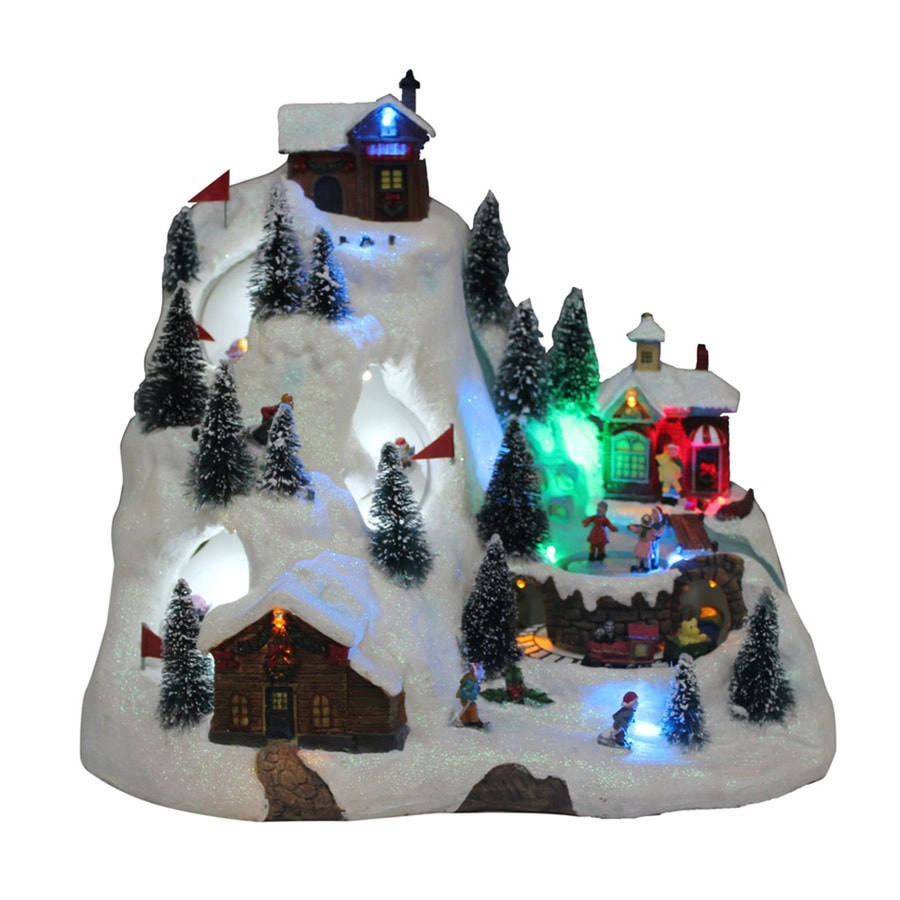 Shop Holiday Living Animatronic Lighted Musical Santa Fly Village ...