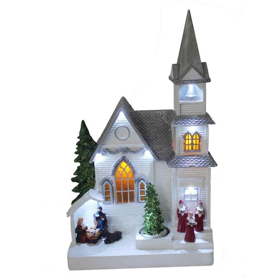 Shop holiday living animatronic pre lit musical church