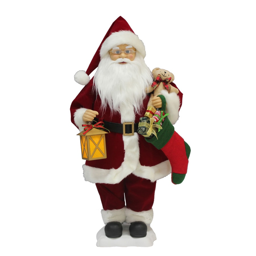 Holiday Living Animatronic Pre-Lit Musical Santa with Constant White LED Lights