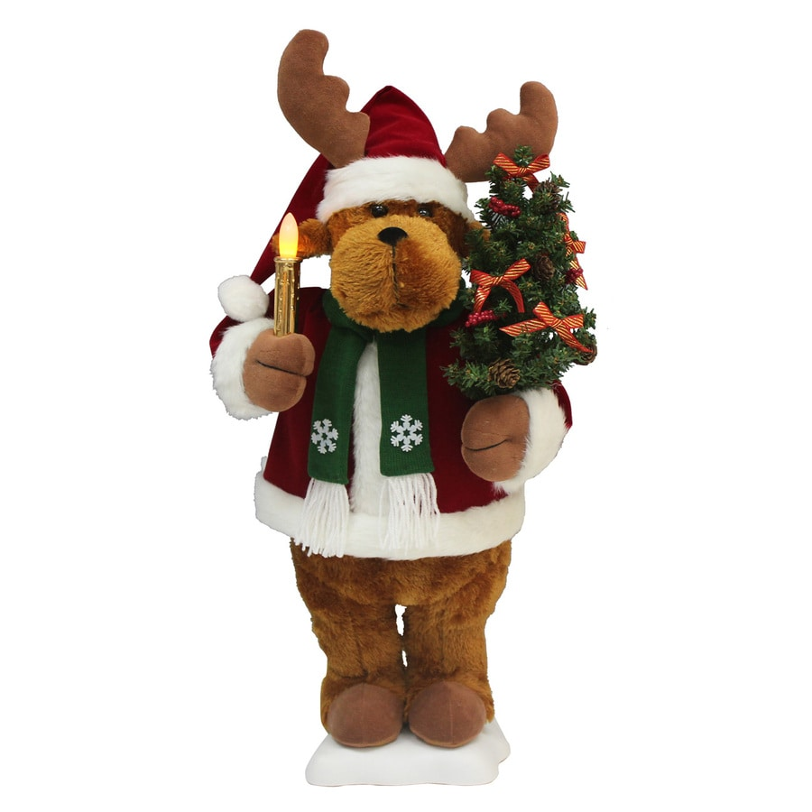 Holiday Living Animatronic Pre-Lit Bear with Constant White LED Lights