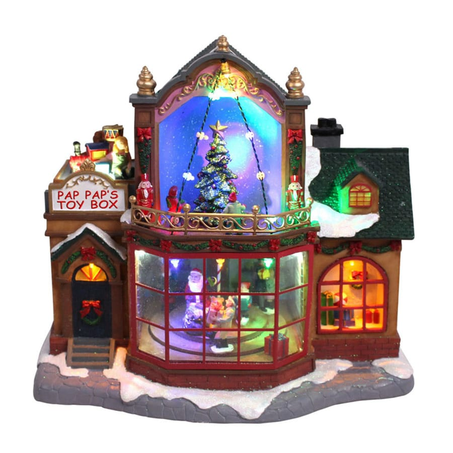 Carole Towne Animatronic Lighted Musical Anthony's Christmas Shop