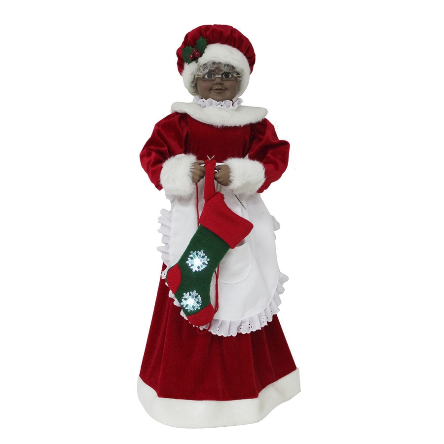 Holiday Living Animatronic Pre-Lit Musical Mrs. Claus with Constant White LED Lights