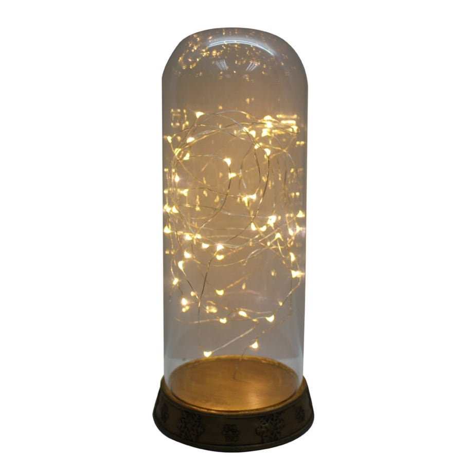 Holiday Living 13.25-in Battery-Operated LED Gold Electric Jar Candle