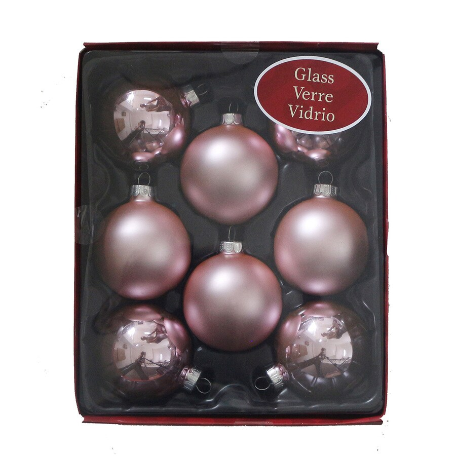 Holiday Living 8-Pack Pink Ball Ornament Set