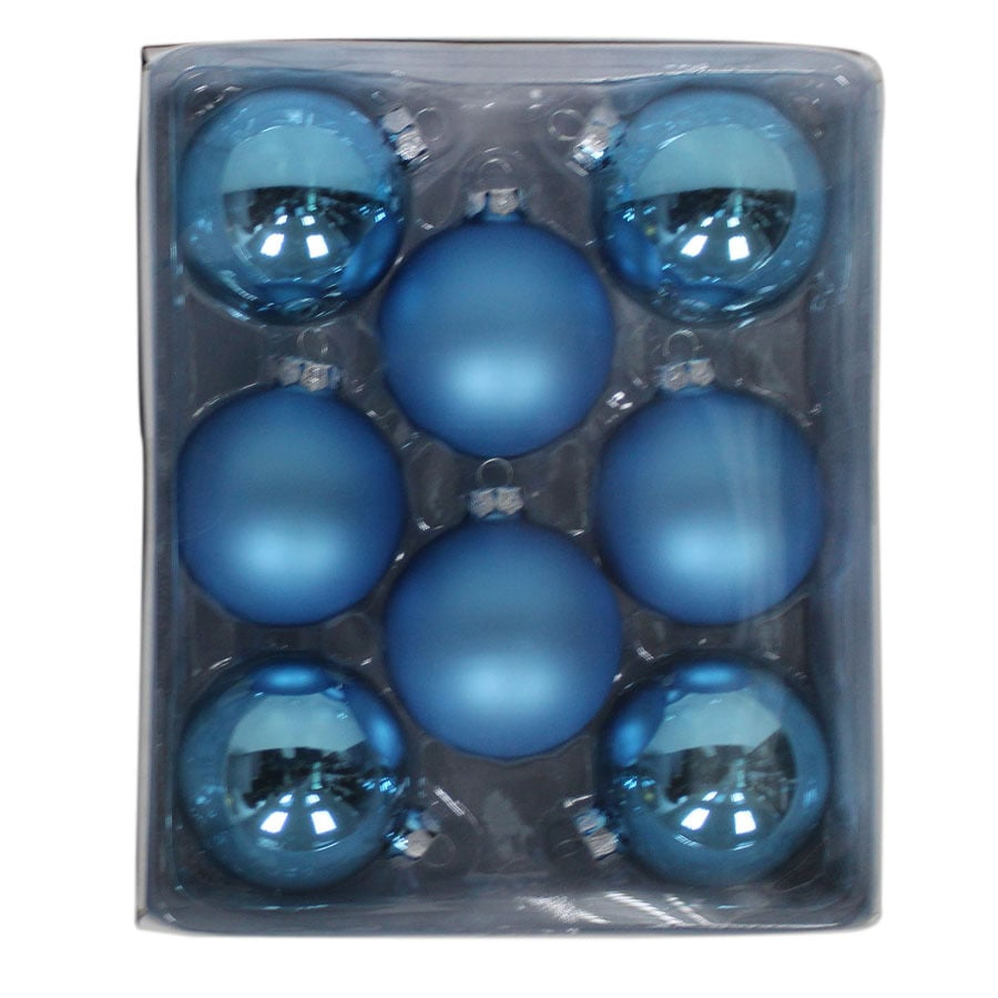 Holiday Living 8-Pack Blue Ball Ornament Set