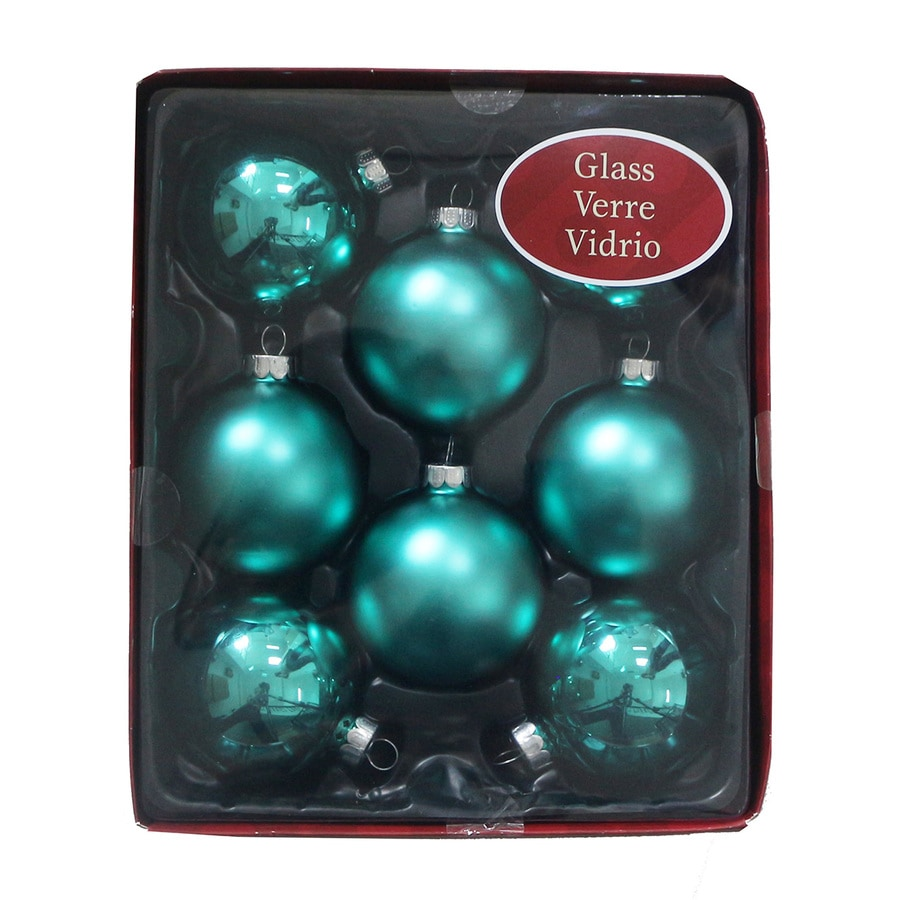 Holiday Living 8-Pack Green Ball Ornament Set