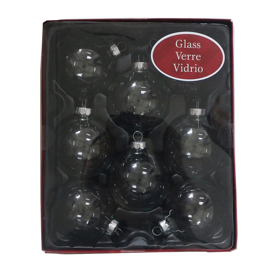 Holiday Living 8-Pack Clear Ball Ornament Set
