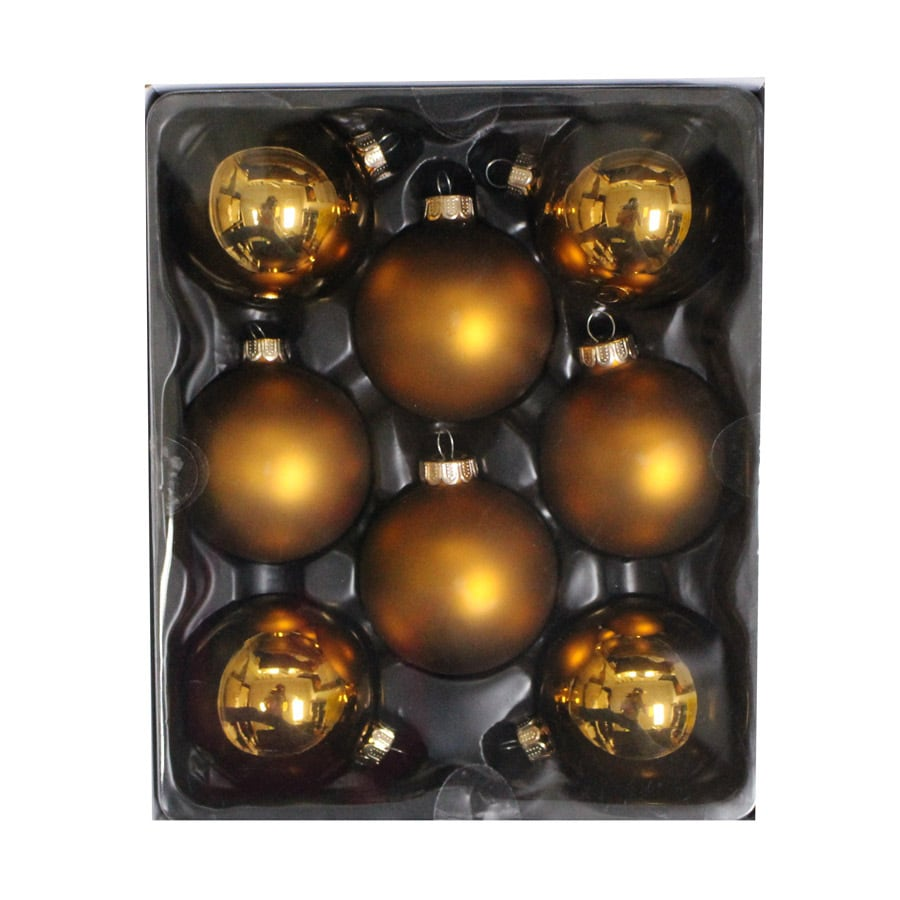 Holiday Living 8-Pack Copper Ball Ornament Set