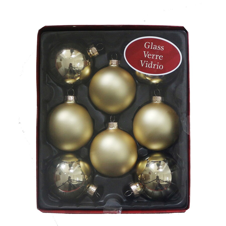 Holiday Living 8-Pack Gold Ball Ornament Set