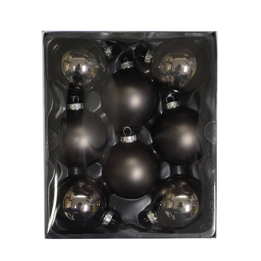 Holiday Living 8-Pack Gray Ball Ornament Set