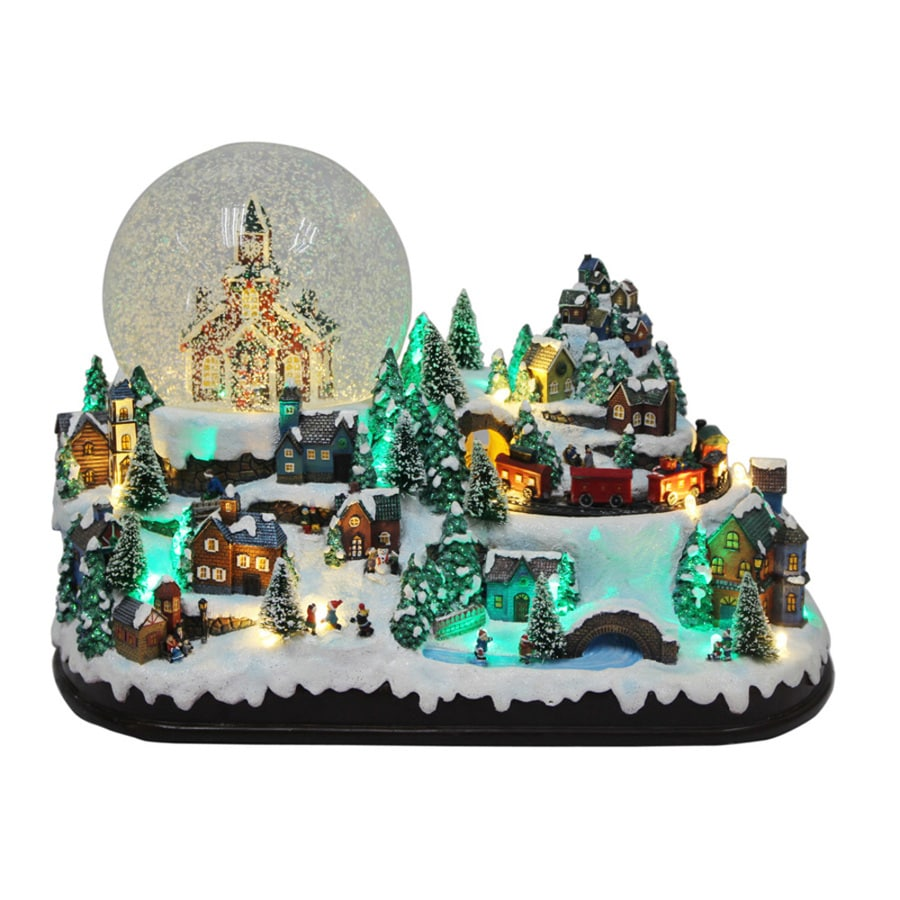 holiday living sallys snow village animatronic lighted musical village scene