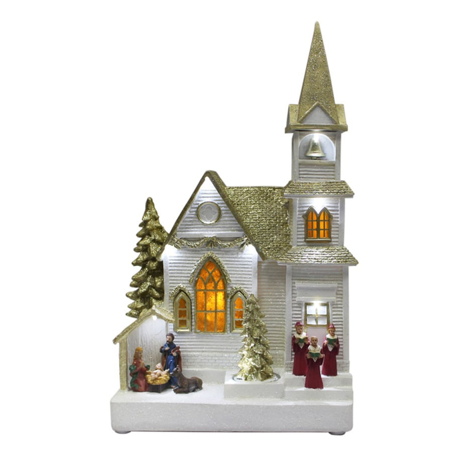Holiday Living ST. Catherines Church Animatronic Lighted Musical Village Scene