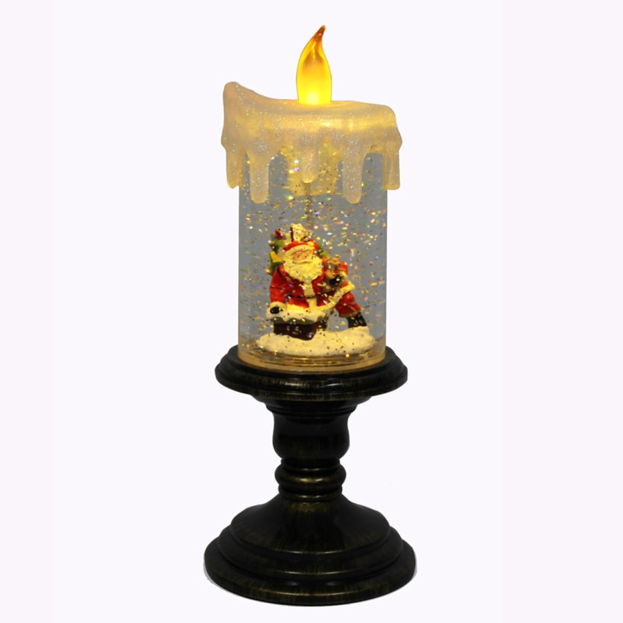 Holiday Living 10-in Indoor Battery-operated LED Bronze Electric Decorative Candle with Timer