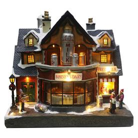carole towne malveys dairy animatronic lighted musical village scene - Lowes Christmas Village