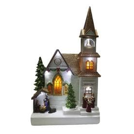 holiday living jeremiahs chapel animatronic lighted musical village scene - Lowes Christmas Village