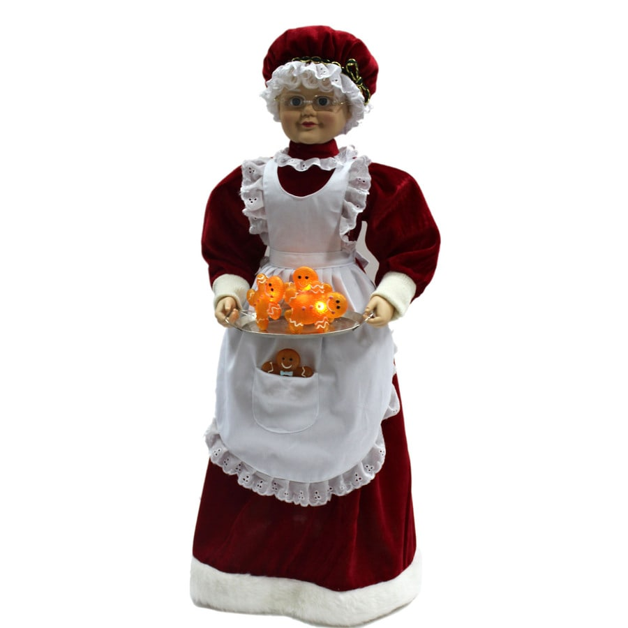 Holiday Living Animatronic Pre-Lit Musical Mrs. Claus Lights