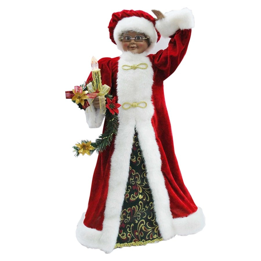 Shop holiday living animated mrs claus figurine at lowes