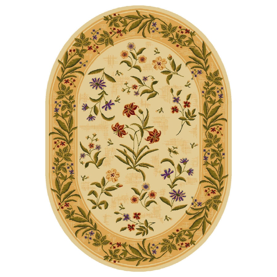 Shaw Living Summer Flowers Oval Indoor Tufted Area Rug (Common: 5 x 8; Actual: W x L x Dia)