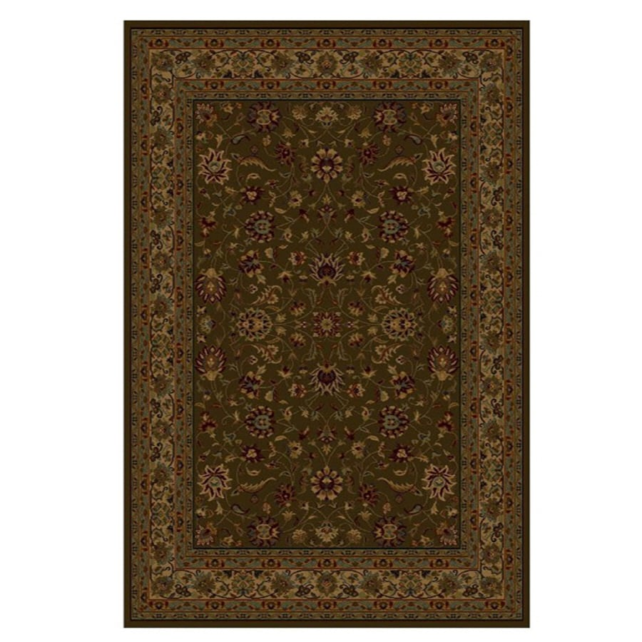 Shaw Living Palace Kashan 3-ft 10-in x 4-ft 6-in Rectangular Brown Transitional Area Rug