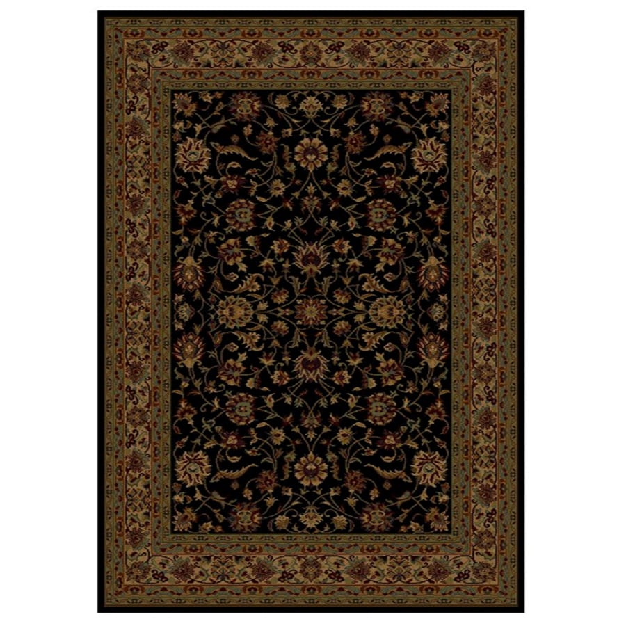 Shaw Living Palace Kashan 7-ft 8-in x 10-ft 9-in Rectangular Black Transitional Area Rug