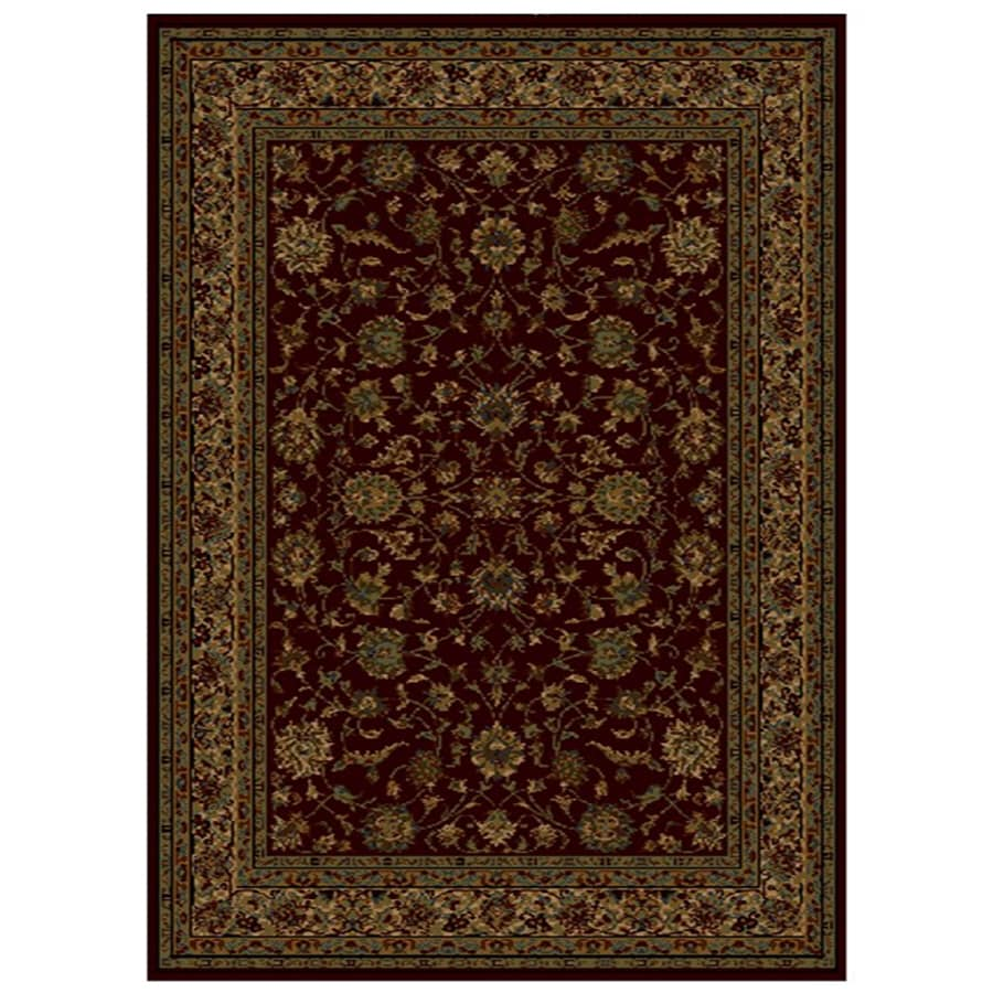 Shaw Living Palace Kashan 7-ft 8-in x 10-ft 9-in Rectangular Red Transitional Area Rug