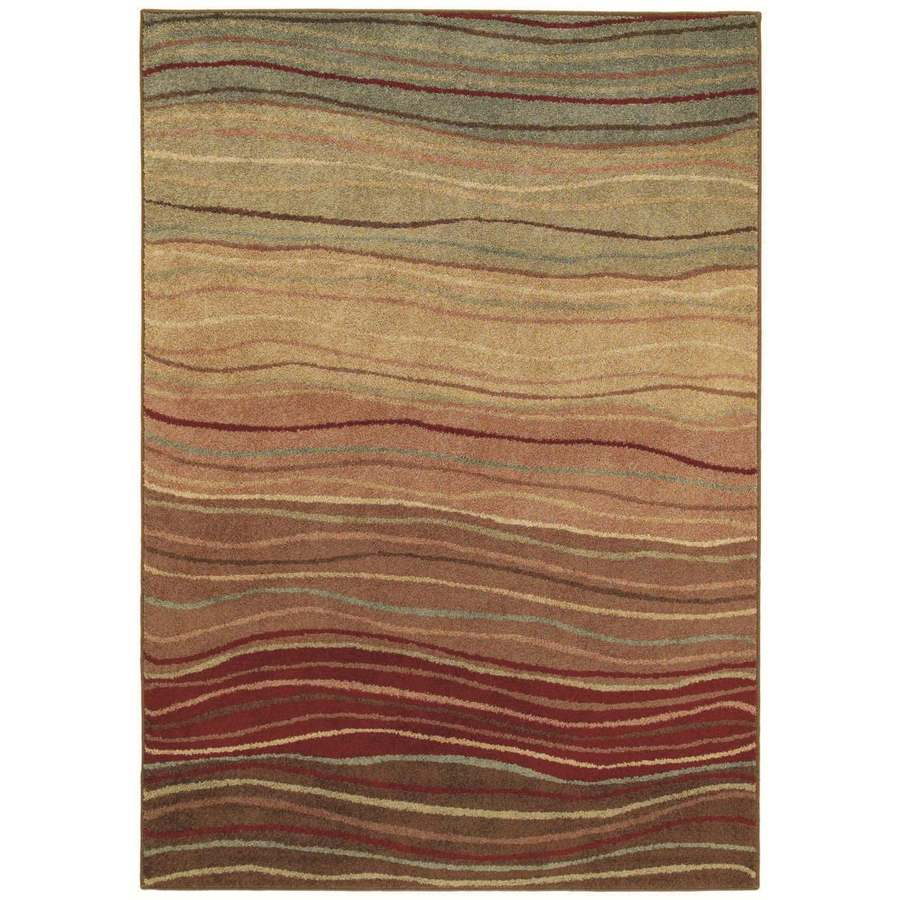 Shaw Living Terra 9-ft 3-in x 12-ft 11-in Rectangular Brown Transitional Area Rug