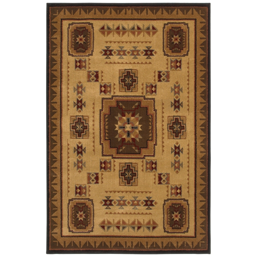 Shaw Living Pueblo Rectangular Indoor Woven Area Rug (Common: 5 x 8; Actual: 63-in W x 94-in L)