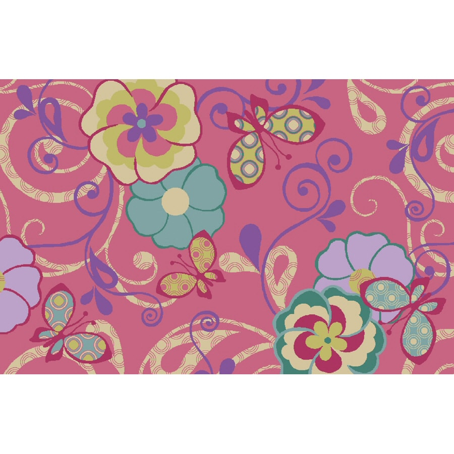 Shaw Living Sweet Quilt Rectangular Tufted Throw Rug (Common: 3 x 5; Actual: 39-in W x 59-in L)