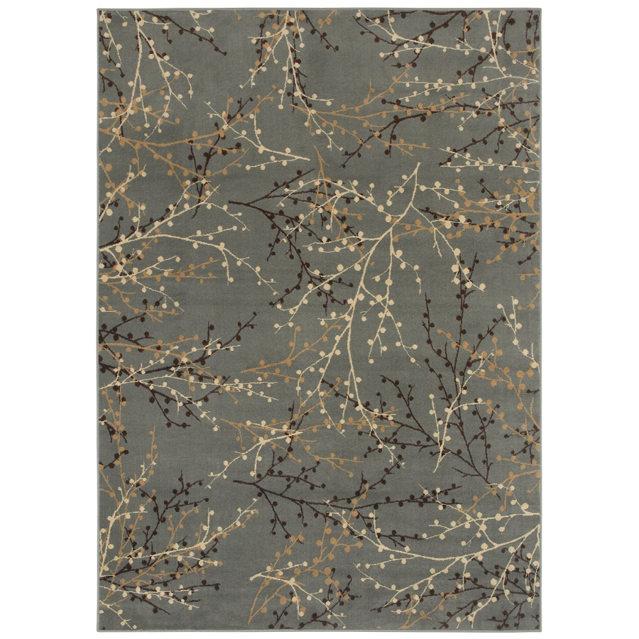 Shaw Living Berries 9-ft 2-in x 12-ft Rectangular Blue Transitional Area Rug