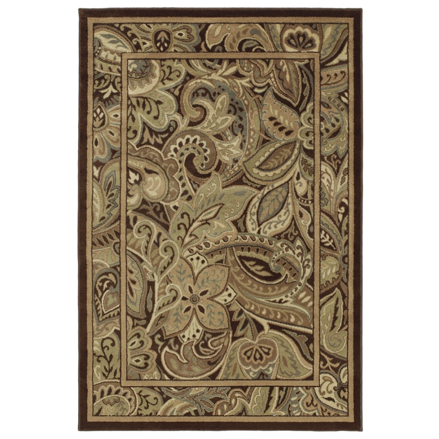 allen + roth Paisley Park Rectangular Indoor Woven Area Rug (Common: 5 x 8; Actual: 63-in W x 94-in L)