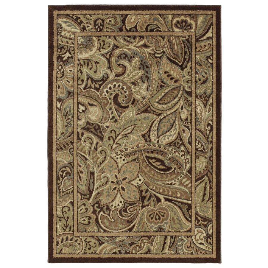 allen + roth Paisley Park Rectangular Indoor Woven Area Rug