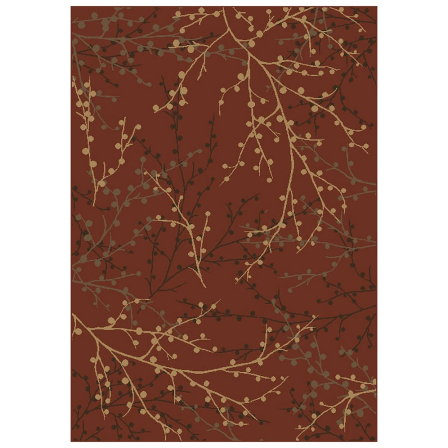 Shaw Living Berries 5-ft 3-in x 7-ft 10-in Rectangular Red Transitional Area Rug