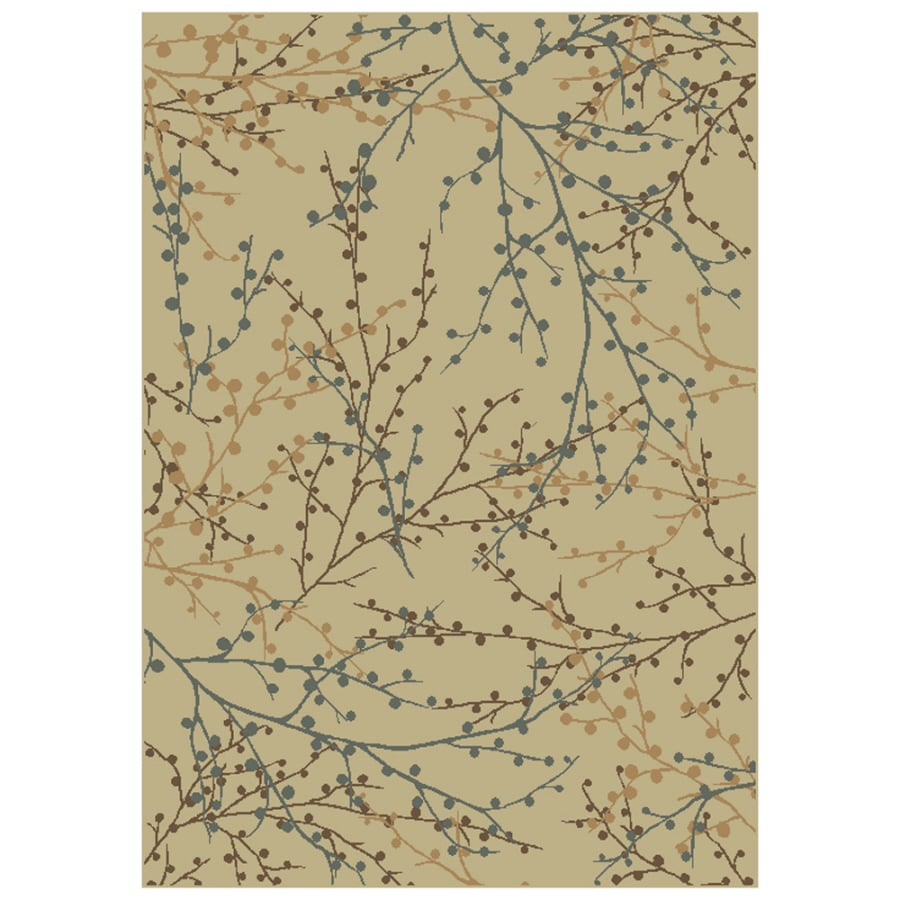 """shop shaw living 7'10"""" x 10'10"""" beige berries area rug at lowes"""