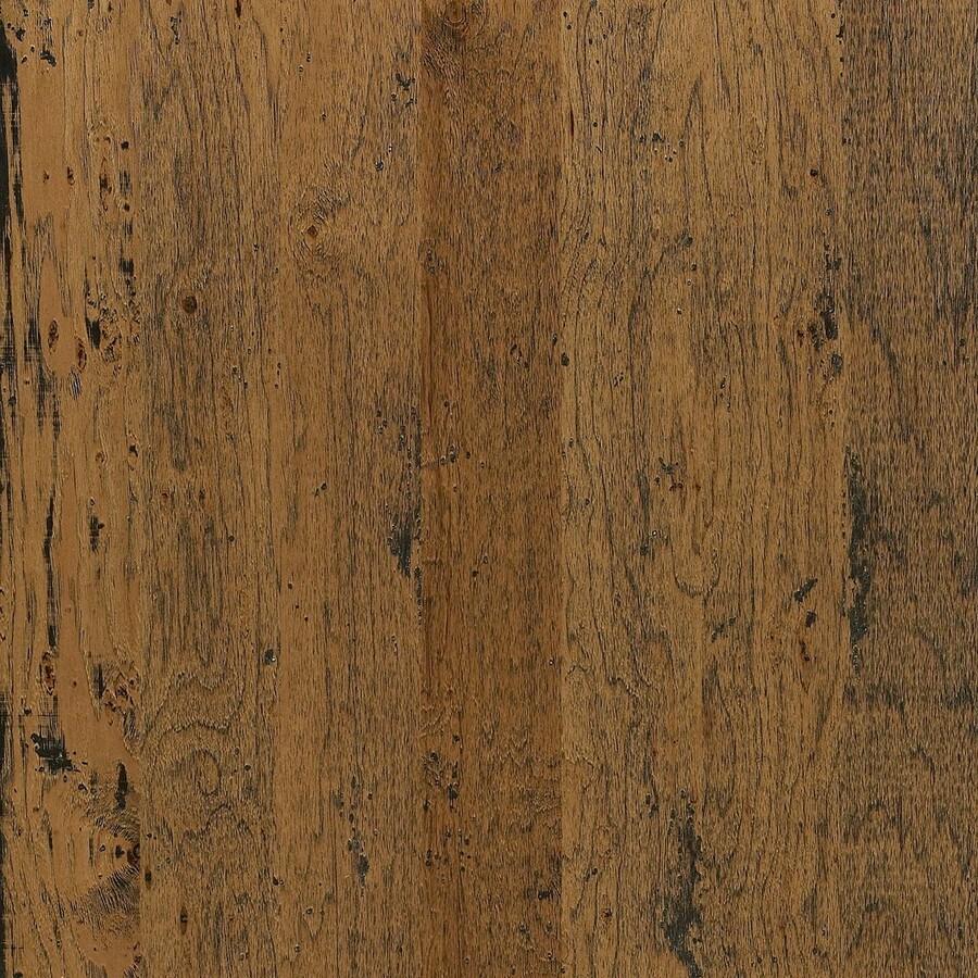 shop shaw hickory hardwood flooring sample (shenandoah) at lowes