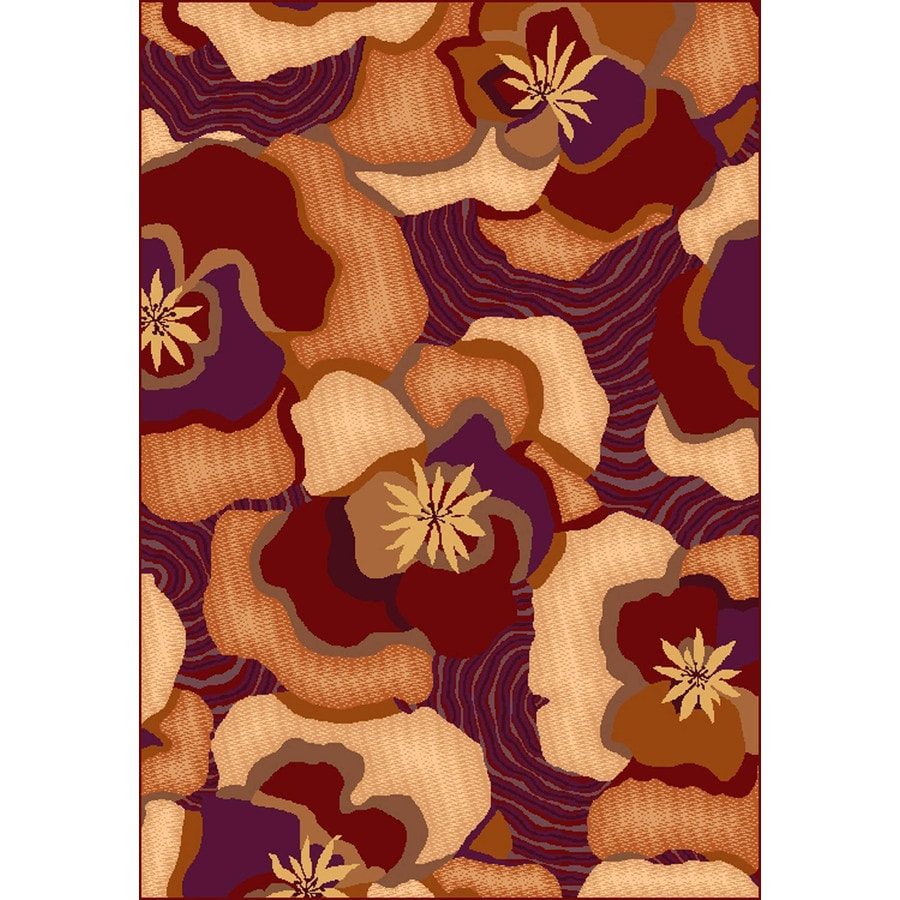 Shaw Living Jodi 46-in x 5-ft 4-in Rectangular Multicolor Floral Area Rug