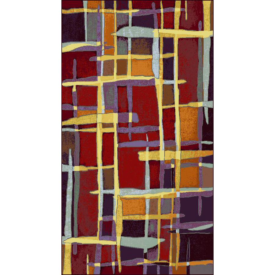 Shaw Living Rectangular Red Accent Rug (Common: 2-ft x 4-ft; Actual: 26-in x 38-in)