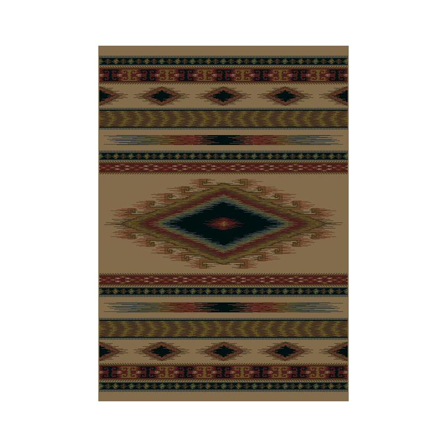 Shaw Living Rectangular Cream Accent Rug (Common: 2-ft x 4-ft; Actual: 23-in x 37-in)