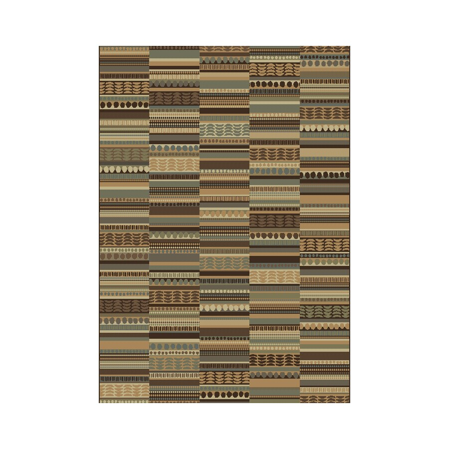 Shaw Living Lodge Quilt 5-ft 3-in x 7-ft 10-in Multicolor Lodge Area Rug