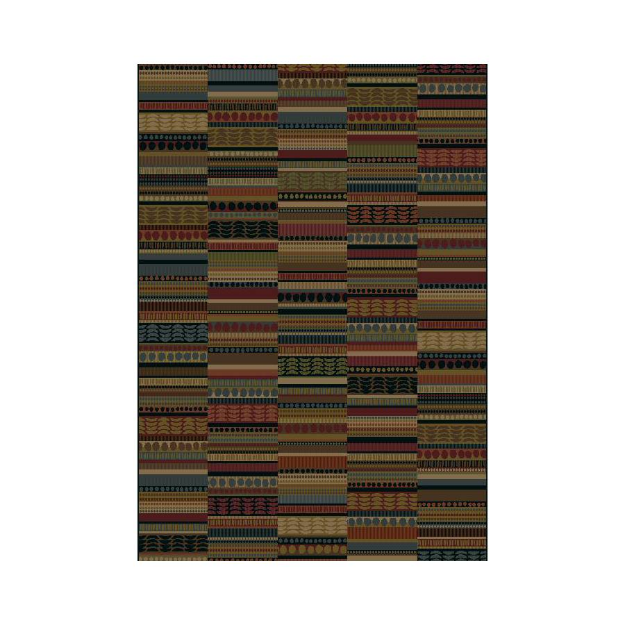 Shaw Living Lodge Quilt 5-ft 3-in x 7-ft 10-in Red Lodge Area Rug