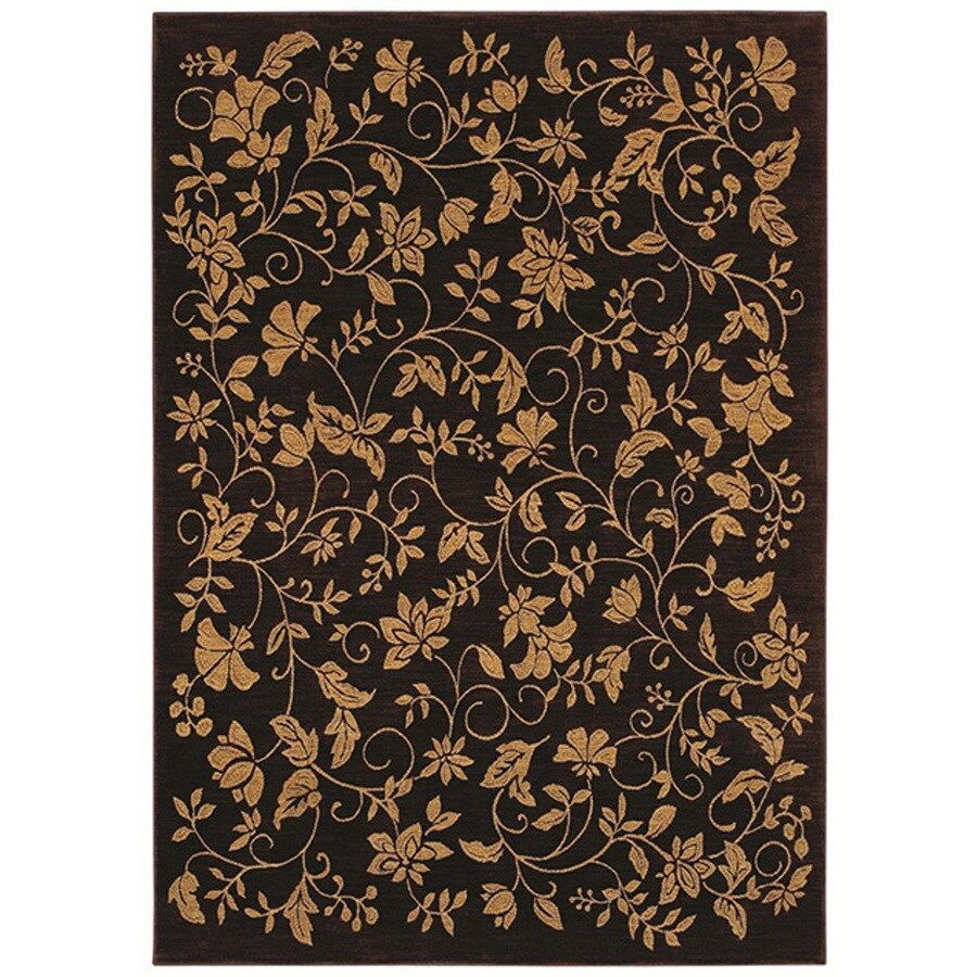 Bob Timberlake 9-ft 6-in x 12-ft 10-in Rectangular Black Floral Area Rug
