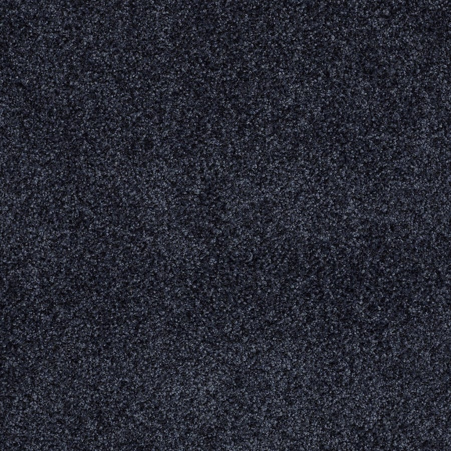 STAINMASTER TruSoft Peaceful Mood II True Blue Textured Interior Carpet
