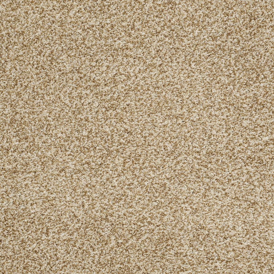 STAINMASTER Trusoft Peaceful Mood II Tan Wash Textured Interior Carpet