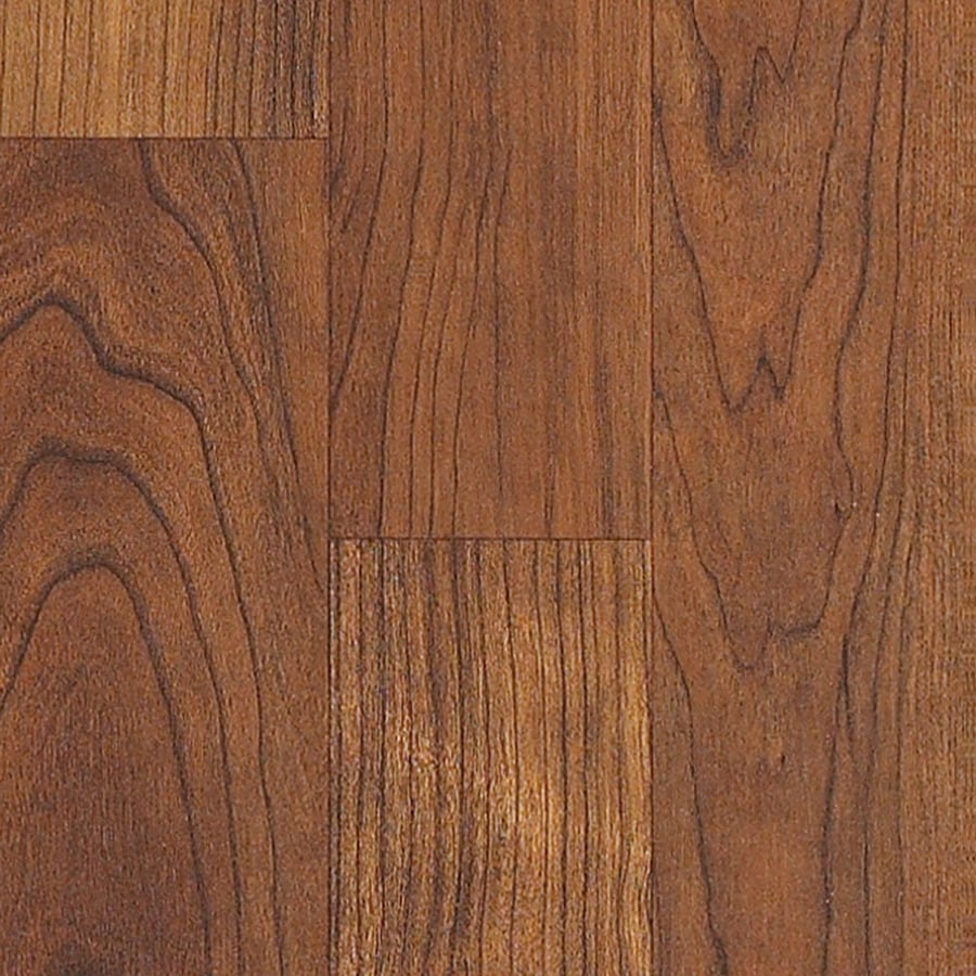 Style selections 7 99 in w x 3 96 ft l canyon cherry wood plank laminate