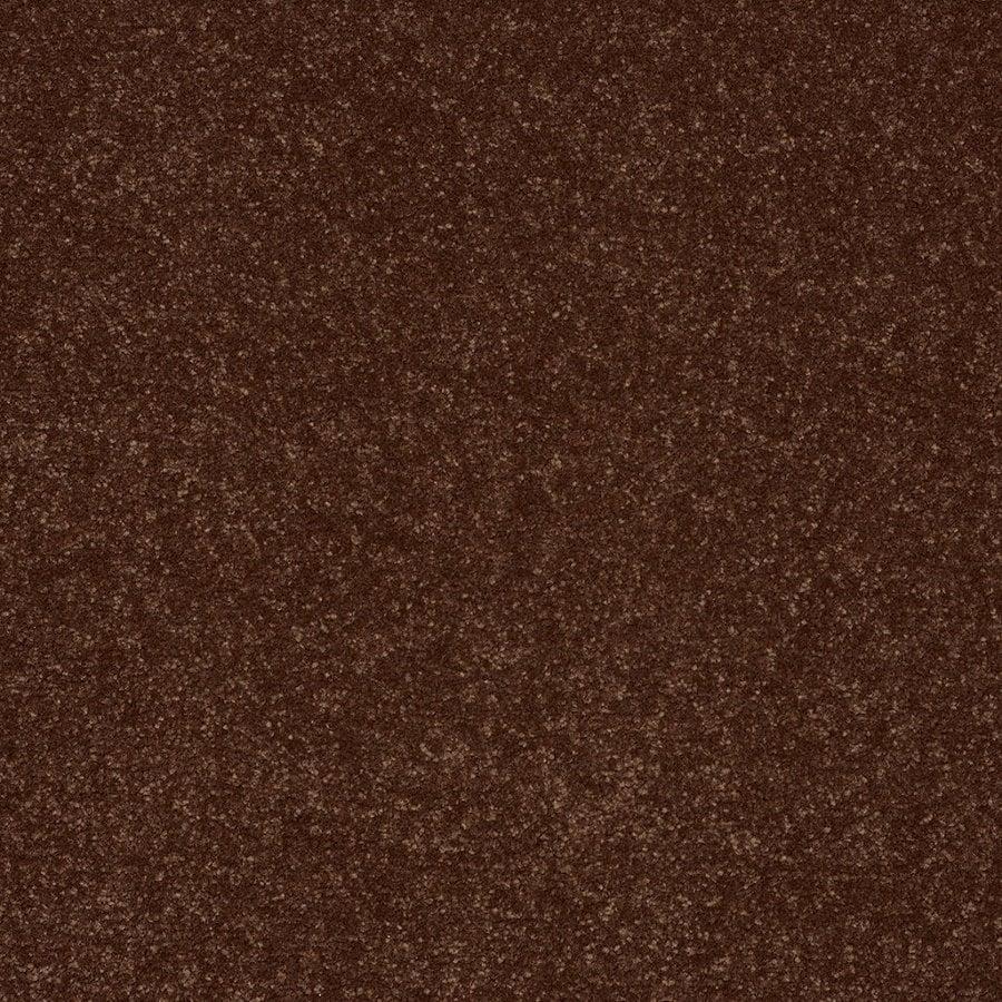 Shaw Cornerstone Collection Orange/Peach/Apricot Textured Interior Carpet